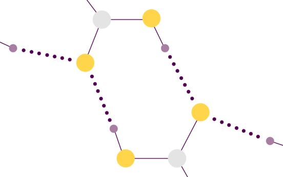 A close up of the hydrogen bond pattern