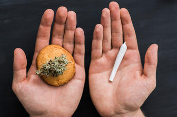 While the high derived from edibles is delayed, it is often more intense than smoking flower. Why? Because the metabolic process is different.
